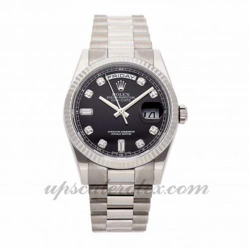 Mens Rolex Day-date 118239 36mm Case Mechanical (Automatic) Movement Black Dial