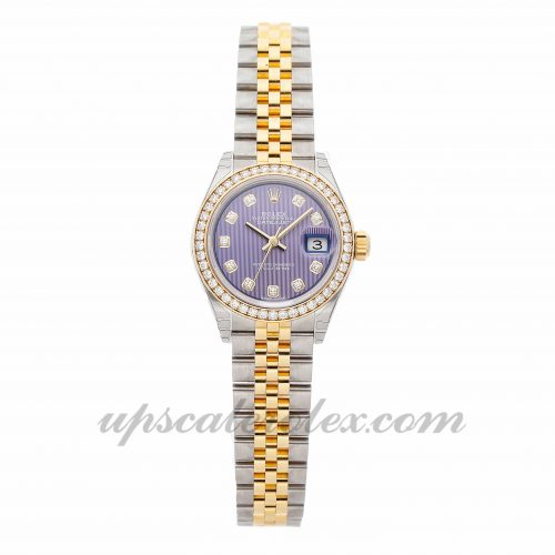 Ladies Rolex Datejust 279383rbr 28mm Case Mechanical (Automatic) Movement Purple Dial