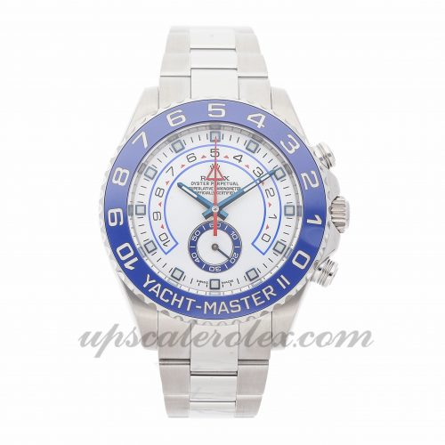Mens Rolex Yacht-master Ii 116680 44mm Case Mechanical (Automatic) Movement White Dial