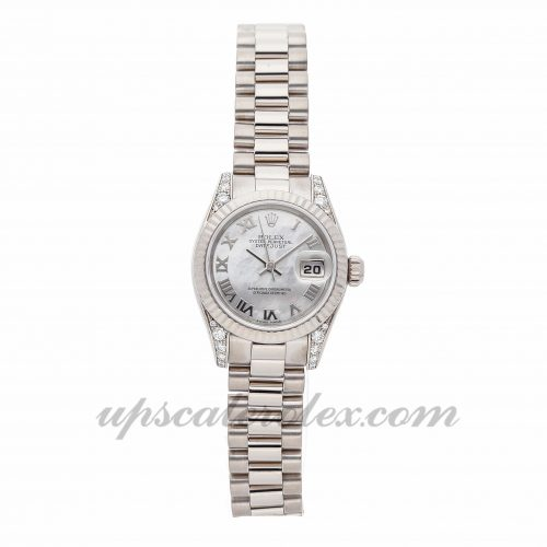 Ladies Rolex Datejust 179239 26mm Case Mechanical (Automatic) Movement White Dial