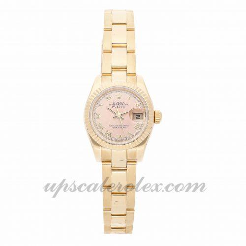 Ladies Rolex Datejust 179178 26mm Case Mechanical (Automatic) Movement Champagne Dial