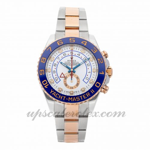 Mens Rolex Yacht-master Ii 116681 44mm Case Mechanical (Automatic) Movement White Dial