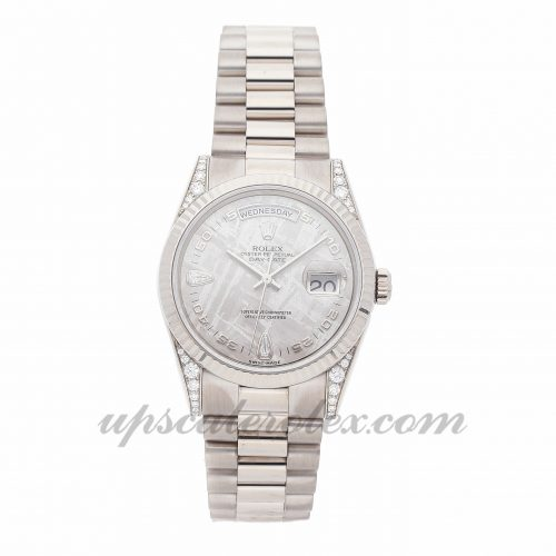 Ladies Rolex Day-date 118339 36mm Case Mechanical (Automatic) Movement Silver Dial