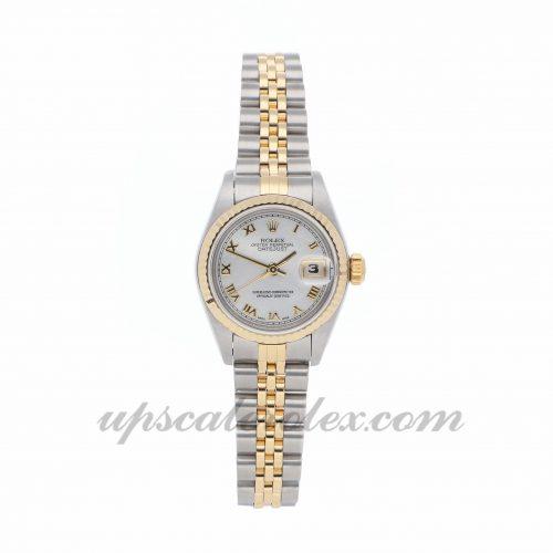 Ladies Rolex Datejust 69173 26mm Case Mechanical (Automatic) Movement White Dial