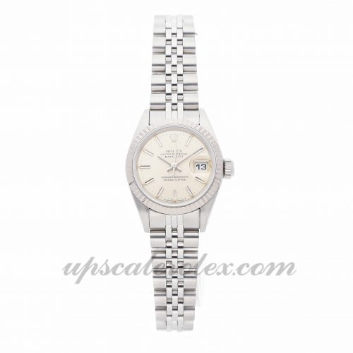 Ladies Rolex Datejust 69174 26mm Case Mechanical (Automatic) Movement Silver Dial