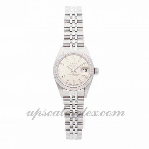 Ladies Rolex Datejust 69174 26mm Case Mechanical (Automatic) Movement Silver Dial