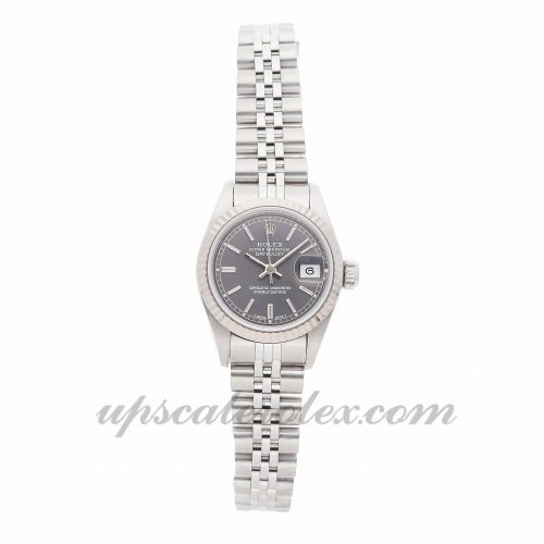 Ladies Rolex Datejust 69174 26mm Case Mechanical (Automatic) Movement Rhodium Dial