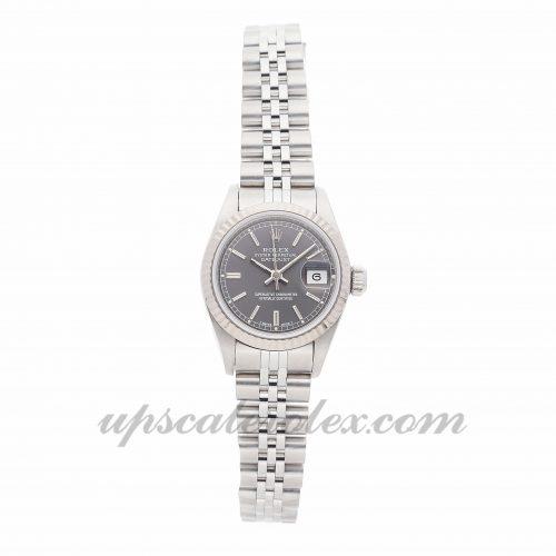 Ladies Rolex Datejust 69174 26mm Case Mechanical (Automatic) Movement Rhodium Dial