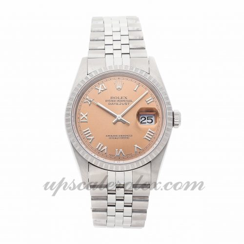 Mens Rolex Datejust 16220 36mm Case Mechanical (Automatic) Movement Pink Dial