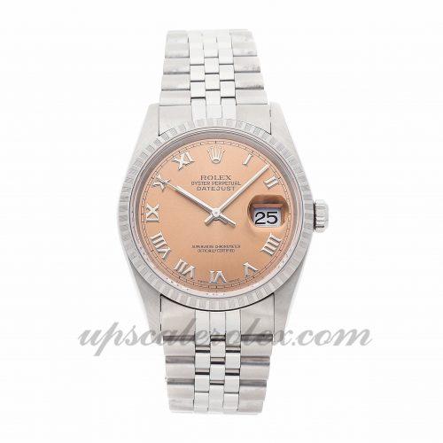Mens Rolex Datejust 16220 36mm Case Mechanical (Automatic) Movement Pink Dial