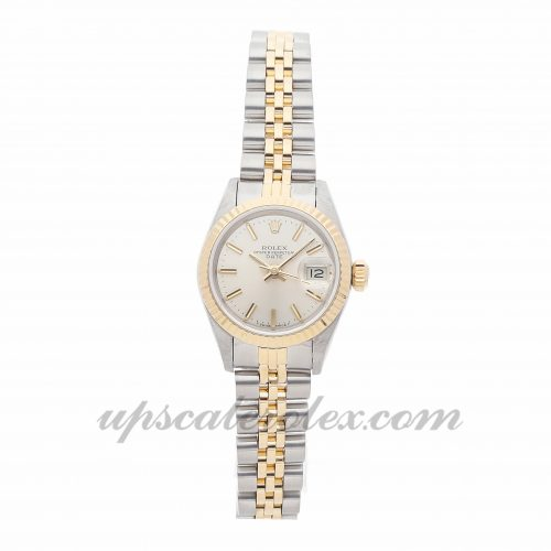 Ladies Rolex Datejust 69173 26mm Case Mechanical (Automatic) Movement Silver Dial
