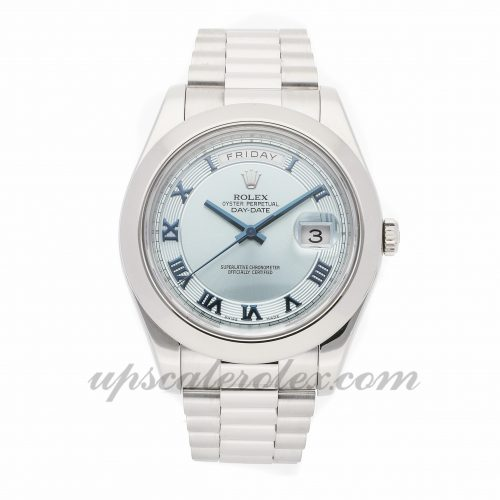 Mens Rolex Day-date Ii 218206 41mm Case Mechanical (Automatic) Movement Blue Dial