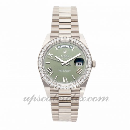 Mens Rolex Day-date 228349rbr 40mm Case Mechanical (Automatic) Movement Green Dial