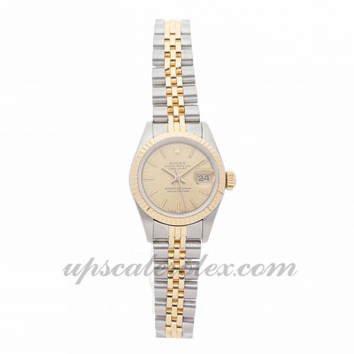 Ladies Rolex Datejust 69173 26mm Case Mechanical (Automatic) Movement Champagne Dial