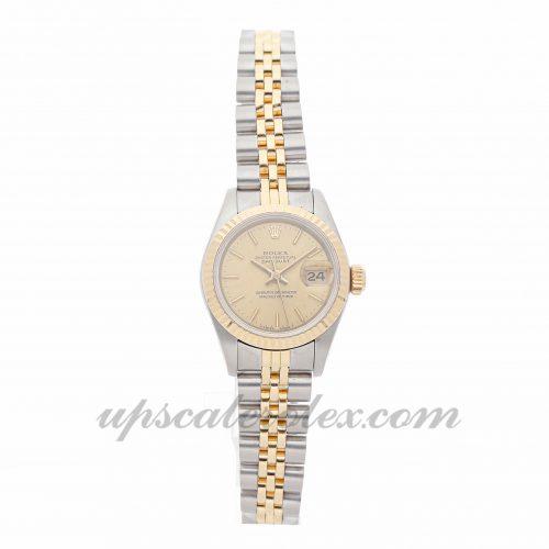 Ladies Rolex Datejust 69173 26mm Case Mechanical (Automatic) Movement Champagne Dial
