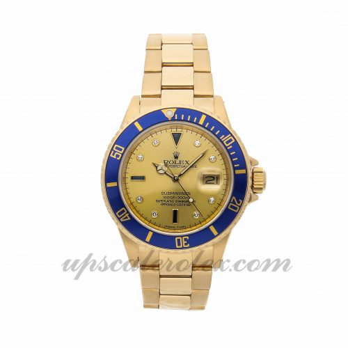 Mens Rolex Submariner 16808 40mm Case Mechanical (Automatic) Movement Champagne Dial