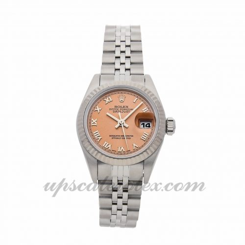 Ladies Rolex Datejust 69174 26mm Case Mechanical (Automatic) Movement Pink Dial