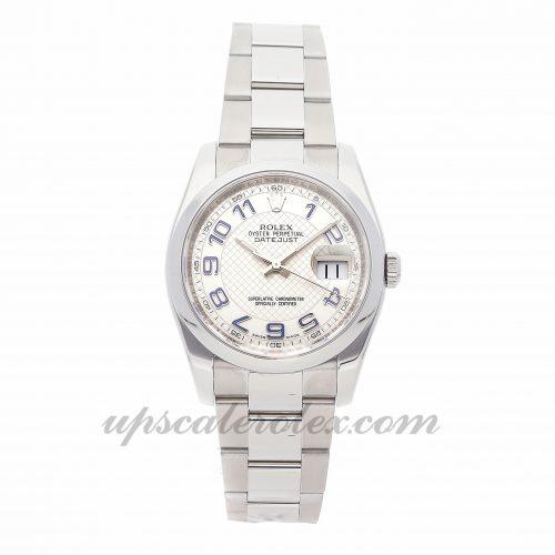Mens Rolex Datejust 116200 36mm Case Mechanical (Automatic) Movement Silver Dial