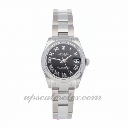 Ladies Rolex Datejust 178240 31mm Case Mechanical (Automatic) Movement Black Dial