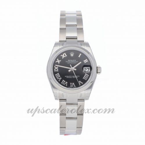 Ladies Rolex Datejust 178240 31mm Case Mechanical (Automatic) Movement Black Dial