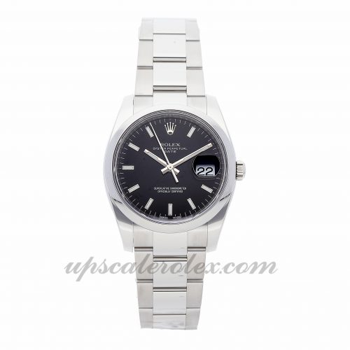 Mens Rolex Oyster Perpetual Date 115200 34mm Case Mechanical (Automatic) Movement Black Dial