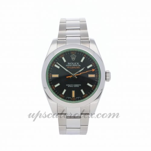 Mens Rolex Milgauss 116400v 40mm Case Mechanical (Automatic) Movement Black Dial