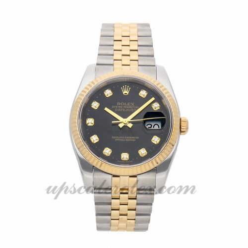 Ladies Rolex Datejust 116233 36mm Case Mechanical (Automatic) Movement Black Dial