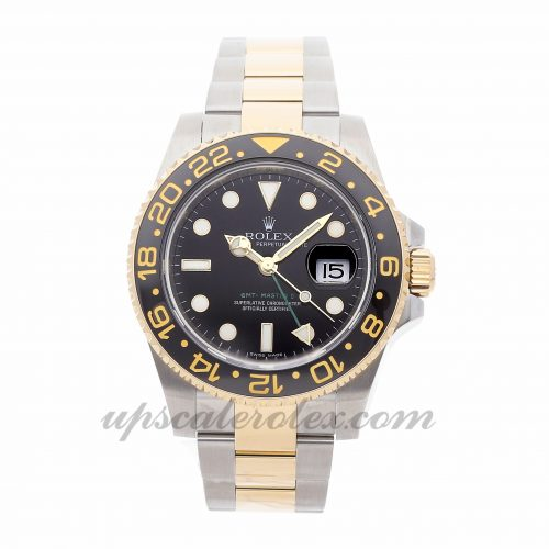 Mens Rolex Gmt Master Ii 116713 40mm Case Mechanical (Automatic) Movement Black Dial