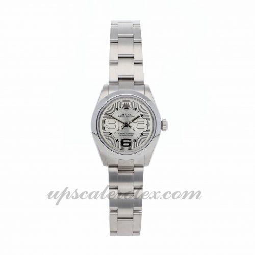 Mens Rolex Oyster Perpetual 177200 31mm Case Mechanical (Automatic) Movement Silver Dial