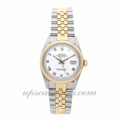 Mens Rolex Datejust 16013 36mm Case Mechanical (Automatic) Movement White Dial