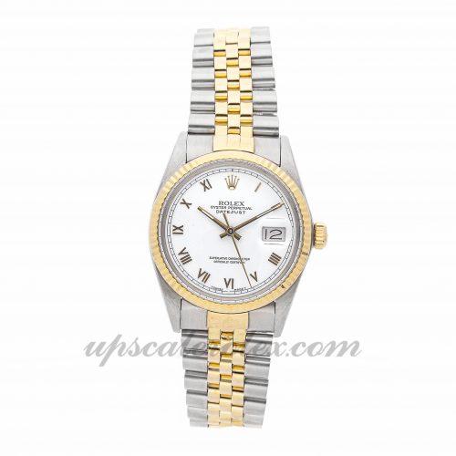 Mens Rolex Datejust 16013 36mm Case Mechanical (Automatic) Movement White Dial