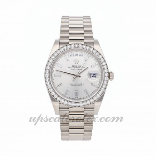 Mens Rolex Day-date 228349rbr 40mm Case Mechanical (Automatic) Movement Silver Dial