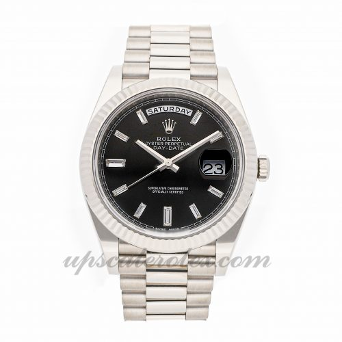 Mens Rolex Day-date 40 228239 40mm Case Mechanical (Automatic) Movement Black Dial
