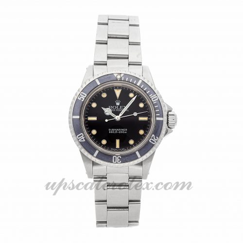 Mens Rolex Vintage Submariner 5513 40mm Case Mechanical (Automatic) Movement Black Dial