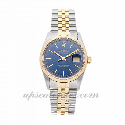 Mens Rolex Datejust 16233 36mm Case Mechanical (Automatic) Movement Blue Dial