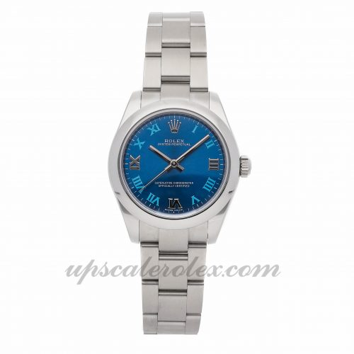 Ladies Rolex Oyster Perpetual 177200 31mm Case Mechanical (Automatic) Movement Blue Dial