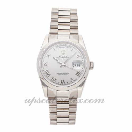 Mens Rolex Day-date 118209 36mm Case Mechanical (Automatic) Movement Rhodium Dial