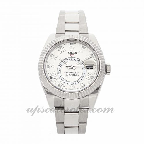 Mens Rolex Sky-dweller 326939 42mm Case Mechanical (Automatic) Movement Ivory Dial