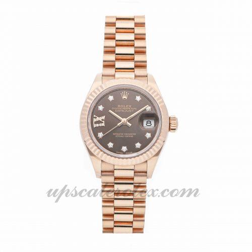 Ladies Rolex Datejust 28 279175 28mm Case Mechanical (Automatic) Movement Brown Dial