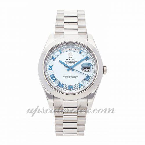 Mens Rolex Day-date Ii 218206 41mm Case Mechanical (Automatic) Movement Glacier Blue Dial