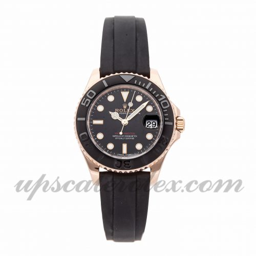 Mens Rolex Yacht-master 268655 37mm Case Mechanical (Automatic) Movement Black Dial