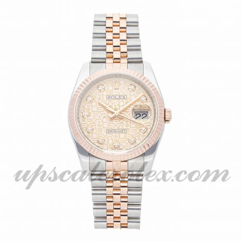 Mens Rolex Datejust 116231 36mm Case Mechanical (Automatic) Movement Pink Dial