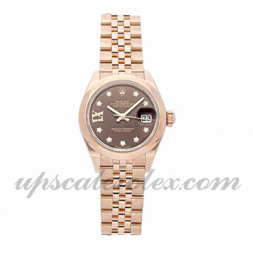 Ladies Rolex Datejust 279165 28mm Case Mechanical (Automatic) Movement Brown Dial
