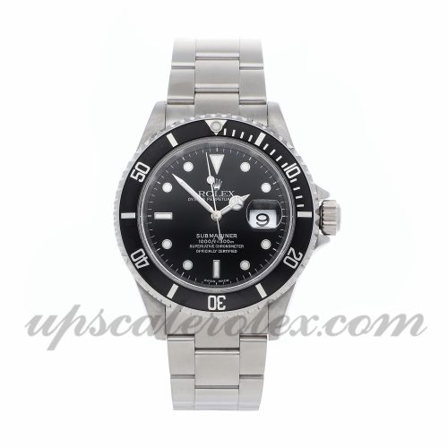 Mens Rolex Submariner 16610 40mm Case Mechanical (Automatic) Movement Black Dial