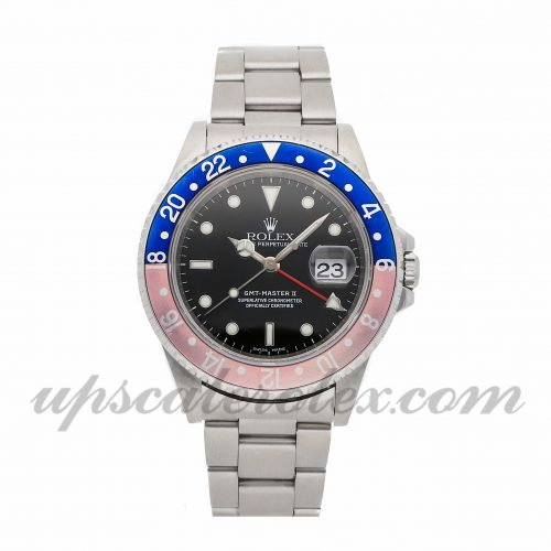 Mens Rolex Gmt-master Ii 16710 40mm Case Mechanical (Automatic) Movement Black Dial