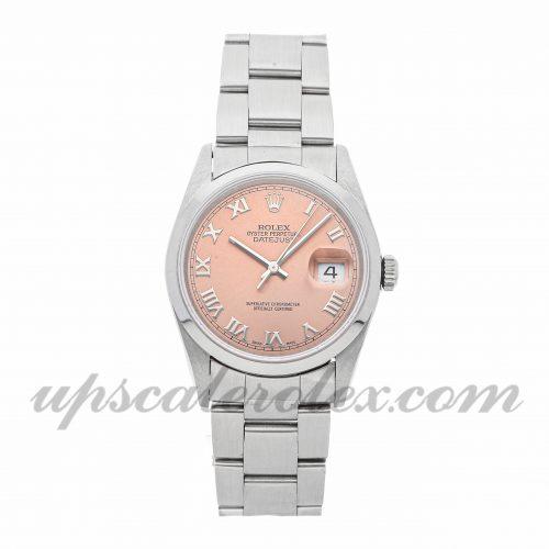 Mens Rolex Datejust 16200 36mm Case Mechanical (Automatic) Movement Pink Dial