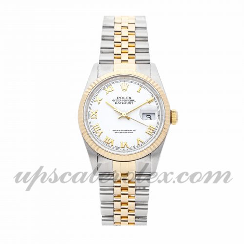 Mens Rolex Datejust 16233 36mm Case Mechanical (Automatic) Movement White Dial