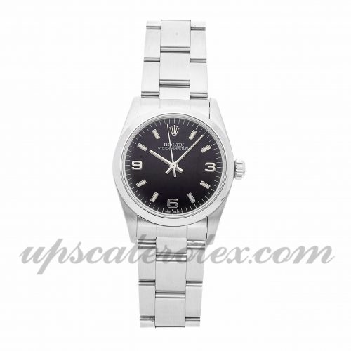 Ladies Rolex Oyster Perpetual 67480 31mm Case Mechanical (Automatic) Movement Black Dial