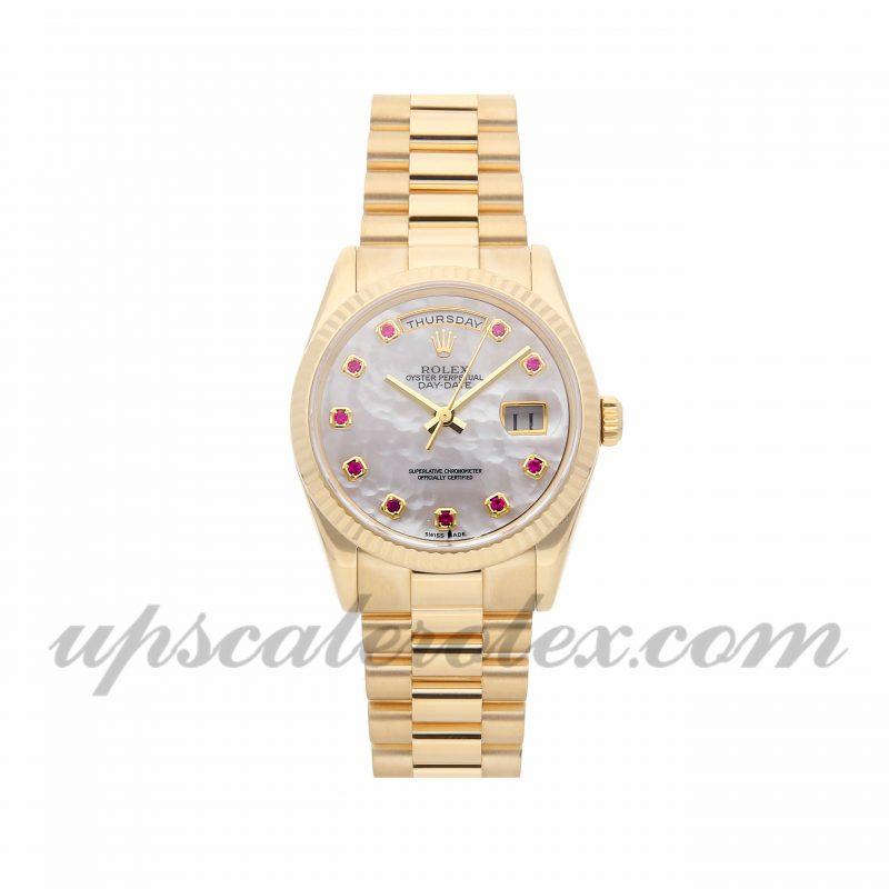 Mens Rolex Day-date 118238 36mm Case Mechanical (Automatic) Movement White Dial