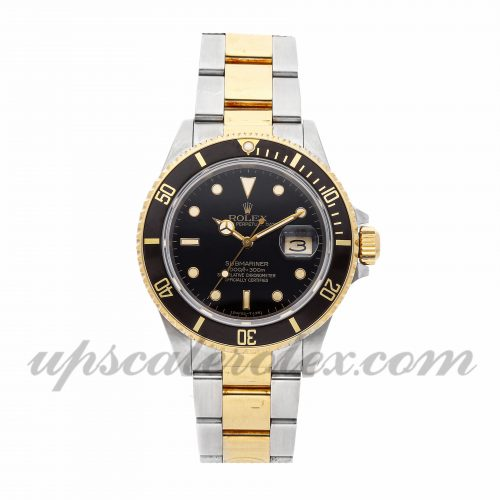 Mens Rolex Submariner 16803 40mm Case Mechanical (Automatic) Movement Black Dial